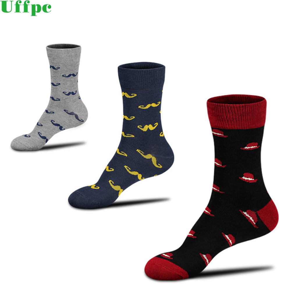 5 Pair 2018 Fashion free shipping Combed Cotton Brand New Men Socks Colorful Dress Socks Wedding Sock Business Sock