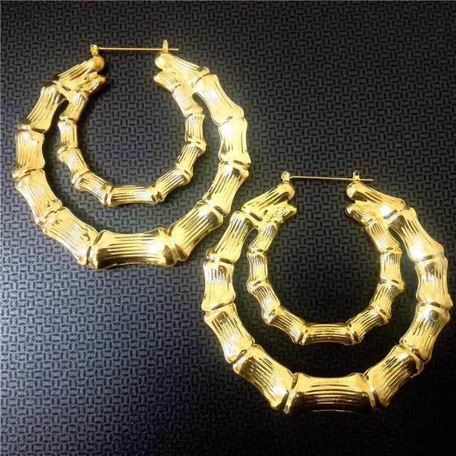 Fashion Hoop Earrings for Women Jewelry Club JAZZ DS Hip Hop Gold Double Circles Womens ladies Big Earring