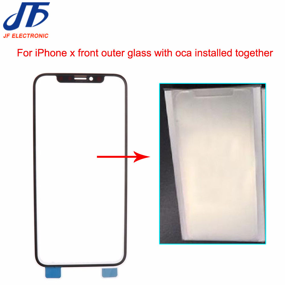 Front Screen Outer Glass Lens with OCA with Polarizer Film installed together Assembly for iPhone X Touch Panel Replacement Part