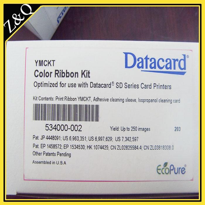 Datacard 534000-002 Zestaw kolorowych wstążek i czyszczenia - YMCKT - Elektronika biurowa - Zdjęcie 1