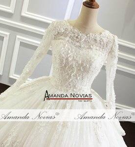 Image 5 - Amanda Novias vestido de noiva Long Sleeve Lace Wedding Dress New