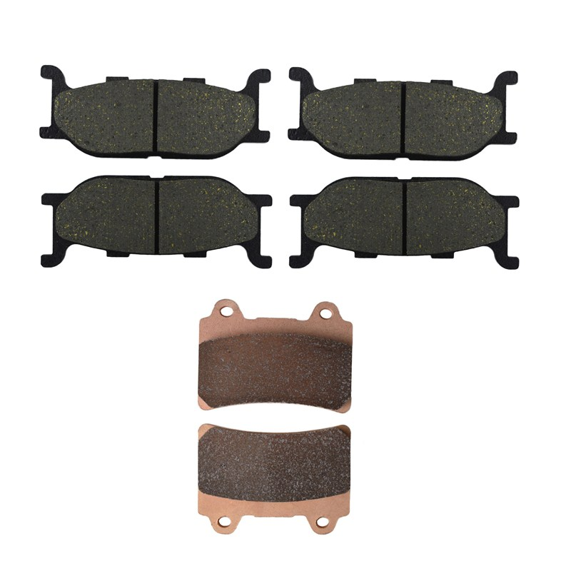 Motorcycle Front and Rear Brake Pads for YAMAHA XVZ 1300 XVZ1300 Royal Star Tour Deluxe 2005-2007 Brake Disc Pad motorcycle front and rear brake pads for yamaha xvs 1300 xvs1300 aw ax v star 2007 2009 black brake disc pad