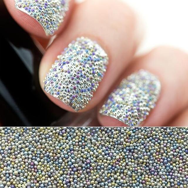 10gbox Mini 06mm08mm Nail Art Caviar Beads Colorful Micro