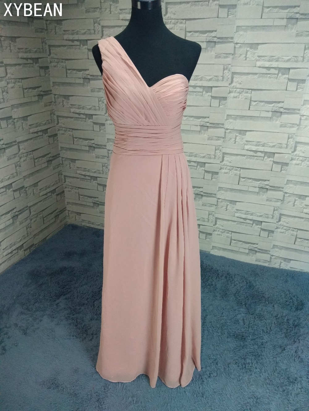 2018 New Arrival ! Free Shipping ! Cheap Price ! One-Shoulder Chiffon   Evening     Dresses