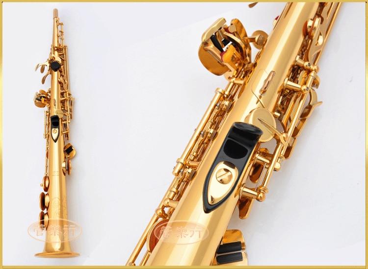 L & K Saxophone Soprano OEM YSS-475 B électrophorèse plate or haut Instruments de musique Sax Soprano qualité professionnelle