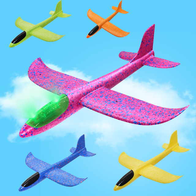 Kids Toys Hand Throw Airplane Flying Glider Planes EPP Foam Plane Model Party Bag Fillers Outdoor Launch Game Toys 35cm 48cm