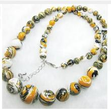 цена на for Women jewelry choker anime gem chocker 6-14mm hot sale white tiger turquoise jade stone loose beads diy Necklace