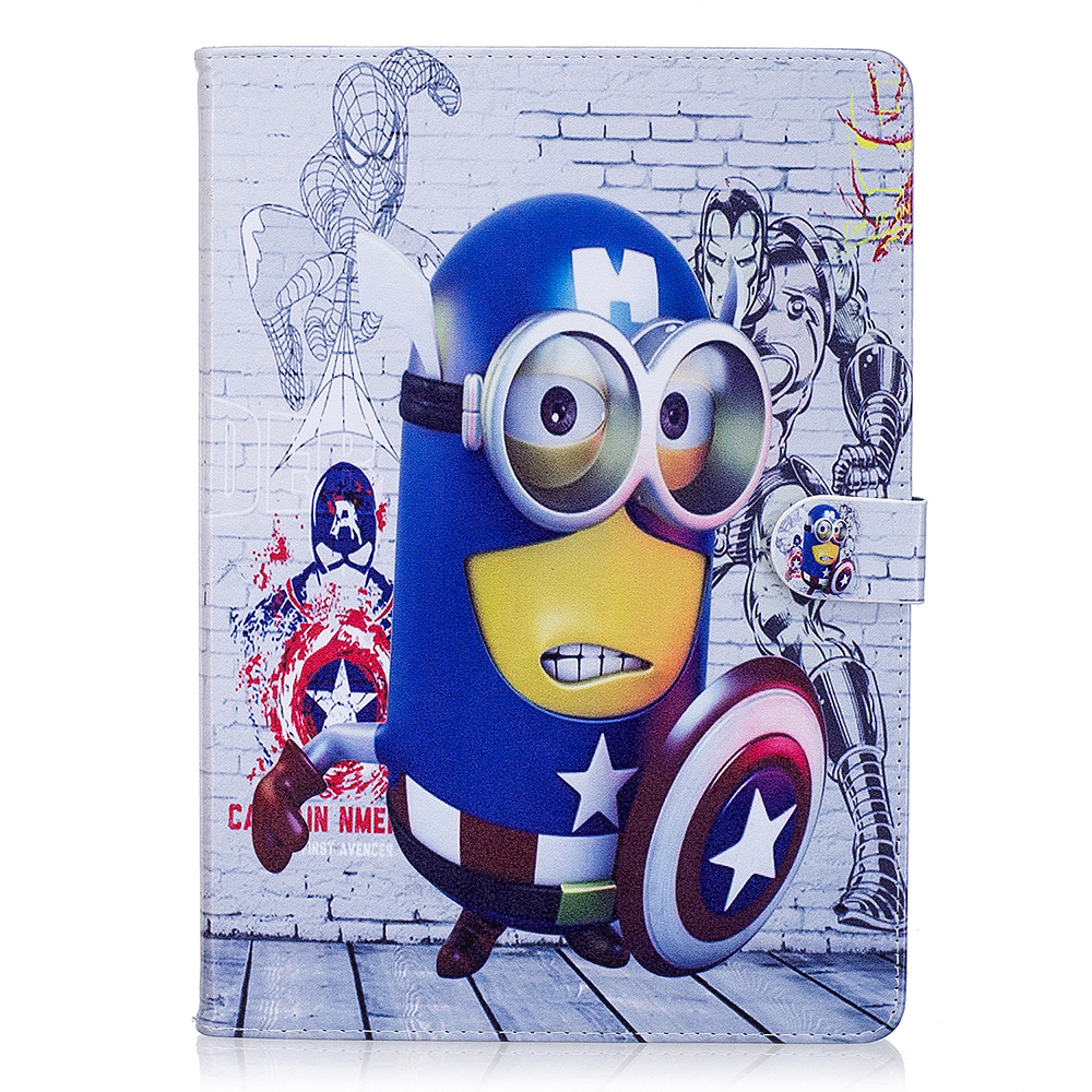 Cartoon Minion Character Stand Case Smart Cover For Apple Ipad For Ipad 5 6 Air Air 2 Ipad 9.7 2017 Case Coque Capa