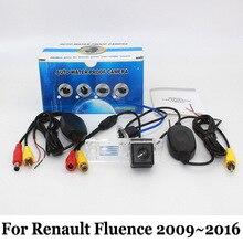 HD Камера Заднего вида Для Renault Fluence 2009 ~ 2016/Проводной Или беспроводной/RCA Разъем CCD Ночного Видения/Широкоугольный Объектив камера
