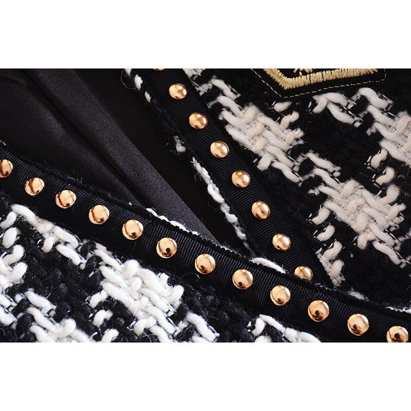 La Manteau Rivet Défilé Côté Femmes Oiseaux Badge Broderie Tweed Explosifs Costume L'europe Une 2019 Vestes De Mille unis États Des Boucle 5wzxnTXq8