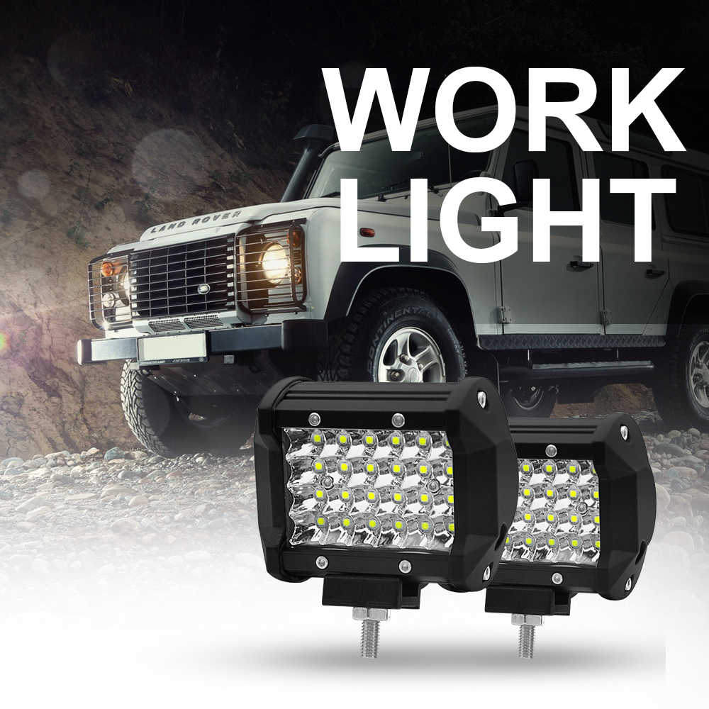 Roadsun 72 W 6000 K سيارة أدى ضوء العمل 12 V أدى أضواء السيارات بار قبالة مصباح للطريق ل جرار 4x4 الشاحنات SUV المركبات قارب دراجة نارية