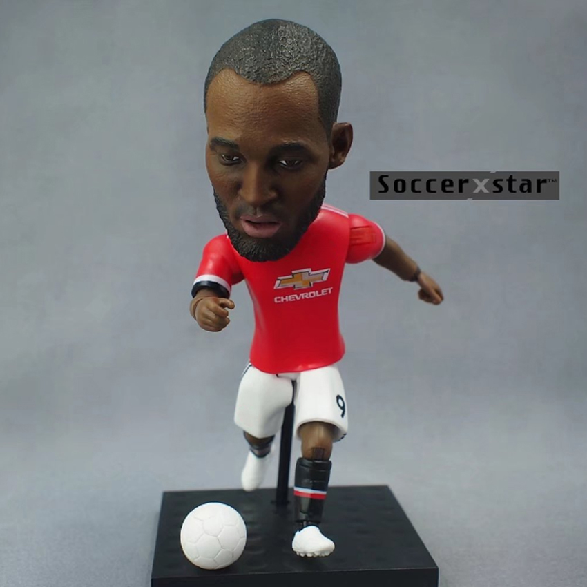 Soccerxstar Figurine Football Player Movable Dolls 9# LUKAKU (MU 2018) 12CM/5in Figure BOX include Accessories Soccerxstar Figurine Football Player Movable Dolls 9# LUKAKU (MU 2018) 12CM/5in Figure BOX include Accessories