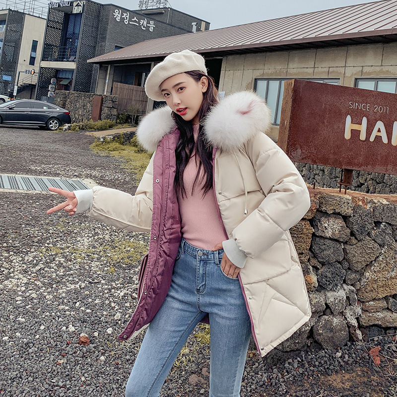 2019 women winter hooded warm coat plus size cotton padded jacket female long   parka   womens fur wadded jaqueta feminina