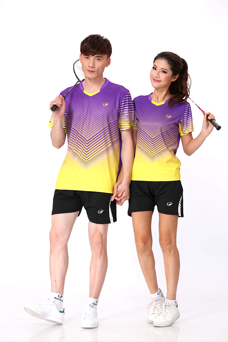 Time-limited Professional Unisex Badminton Shirts Breathable Table Tennis Jersey Shorts Sports Athletic T-shirt Tennis Clothes