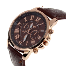 Hot sale Relojes Femin Elegant Women's Fashion Roman Numeral Faux Leather Analog Quartz WristWatch Ladies' Dress Gift 15 Colors
