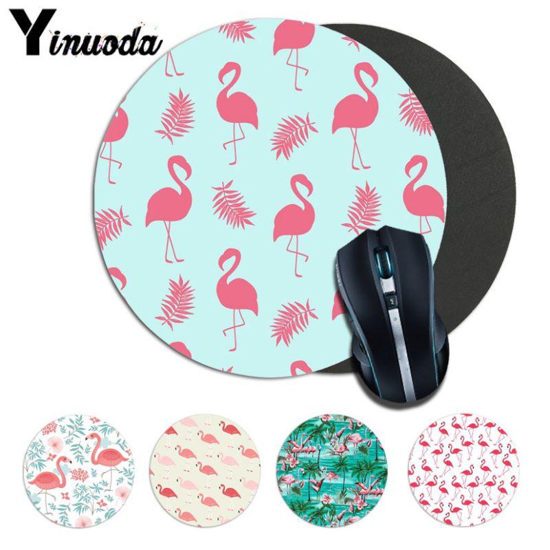Yinuoda Cool flamingo Ordinateur Gaming Lockedge Mousemats Taille pour 20*20 cm 22*22 cm ronde tapis de souris En Caoutchouc Rectangle Tapis de Souris