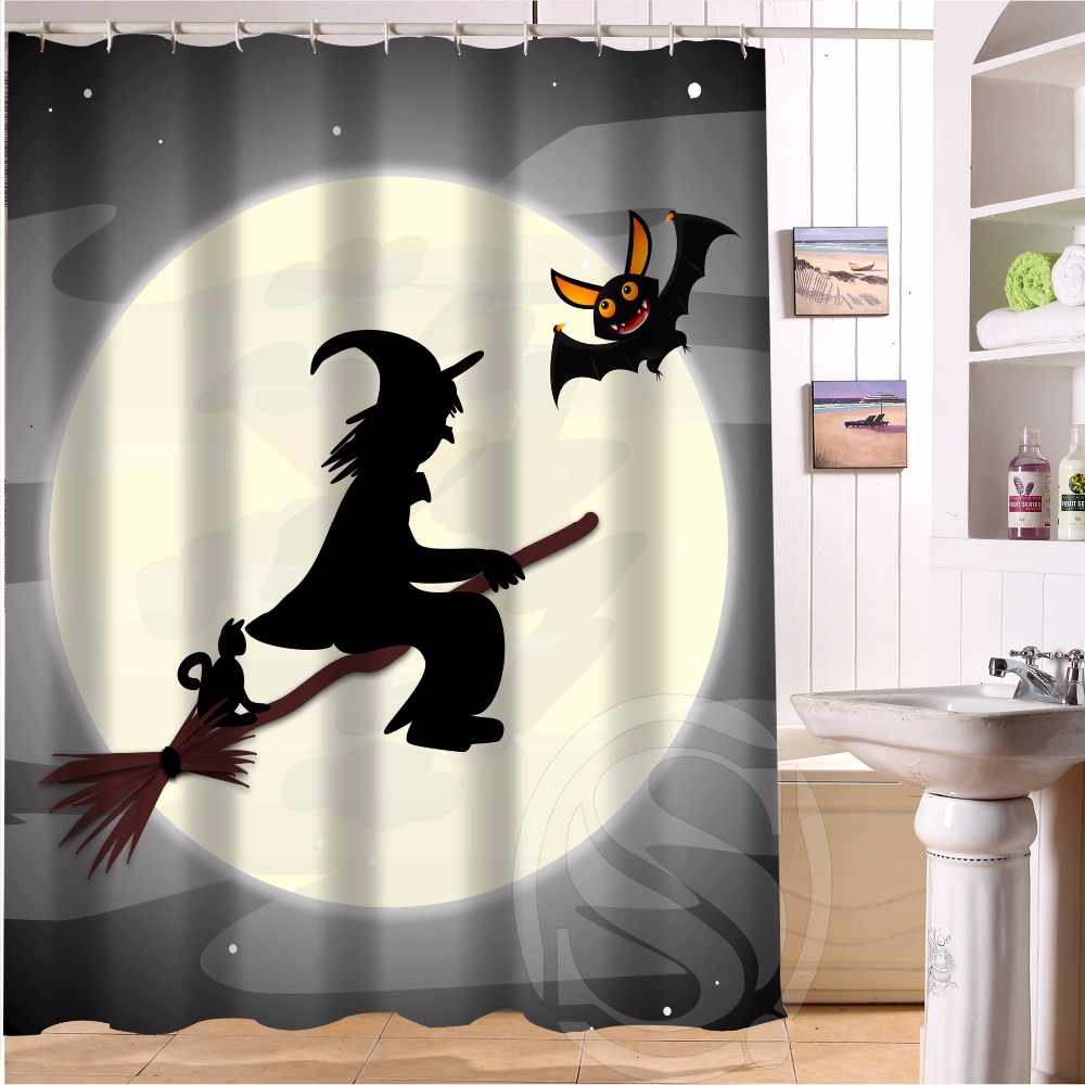 Halloween shower curtain hooks - H P 1 Fashion Design Halloween 1 Custom Shower Curtain Bathroom Decor Various Sizes Free