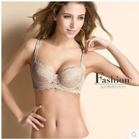 Push up bra 100% silk knitted detachable with inserting piece