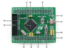 STM32 Board Core107V STM32F107VCT6 STM32F107 ARM Cortex-M3 STM32 Development Core Board with Full IO Expanders