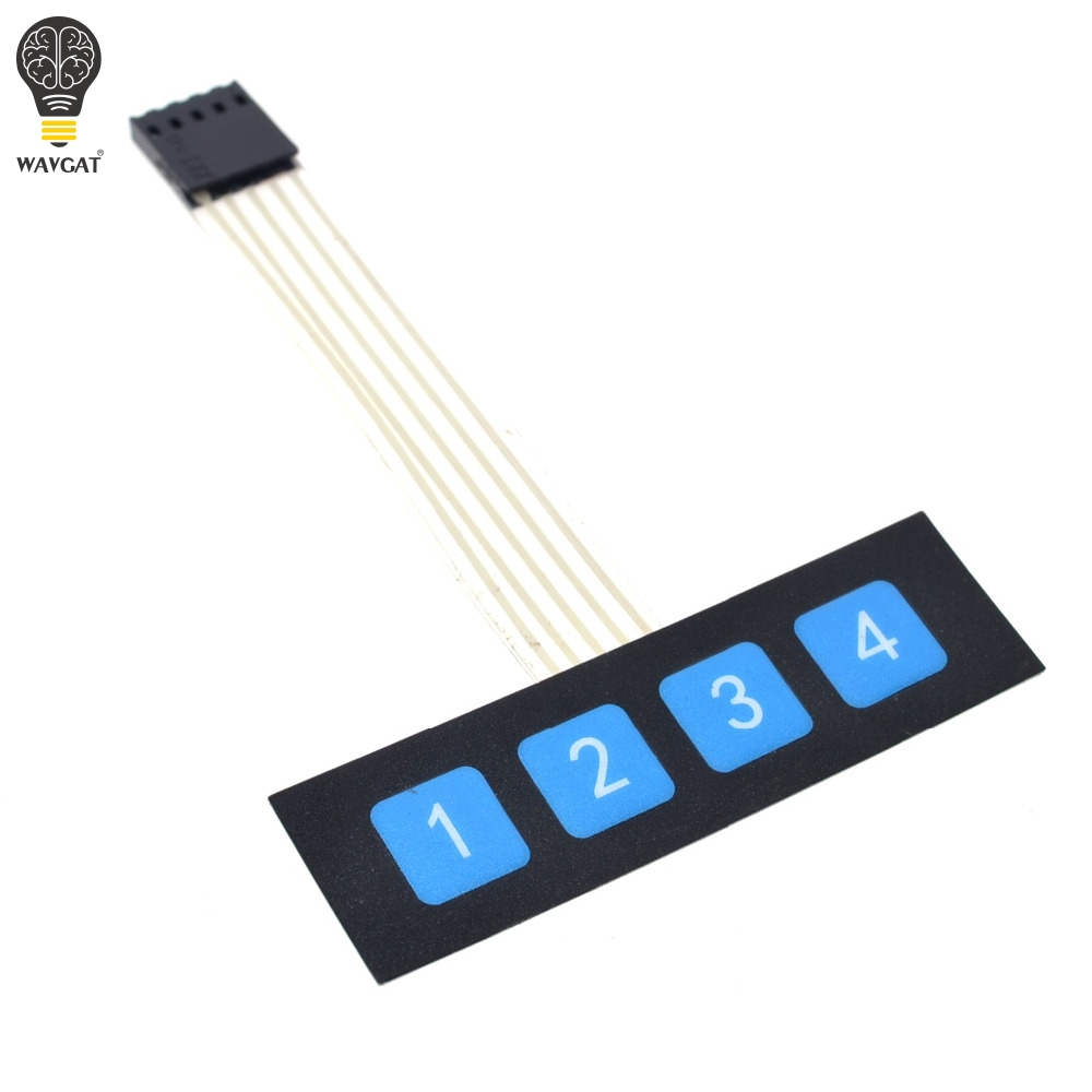 1pcs 1x4 4 Key Matrix Membrane Switch Keypad Keyboard Control Panel SCM Extended Keyboard Super Slim Controller for Arduino1pcs 1x4 4 Key Matrix Membrane Switch Keypad Keyboard Control Panel SCM Extended Keyboard Super Slim Controller for Arduino