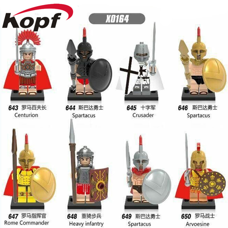 Super Heroes Hero of Sparta With Plastic Cape Medieval Knights Centurion Crusader Rome Commander Building Blocks Kids Toys X0164 knights of sidonia volume 6