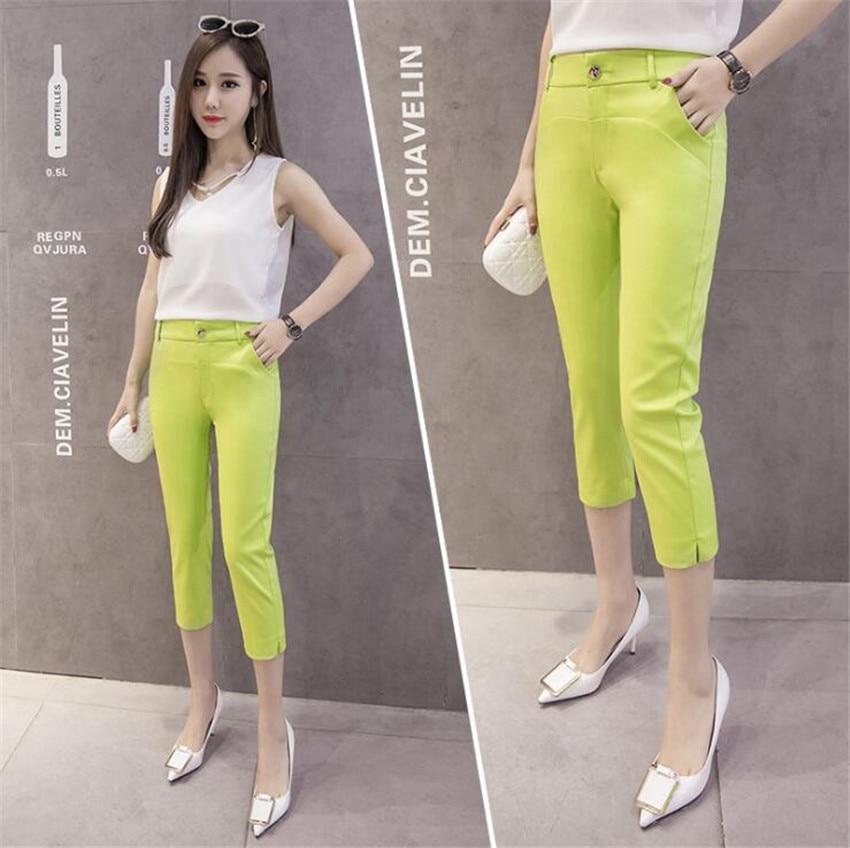 KMUYSL 2018 nuova versione Coreana piedi fasciati pantaloni Della Matita a vita alta sottile di colore Puro professionale KF010