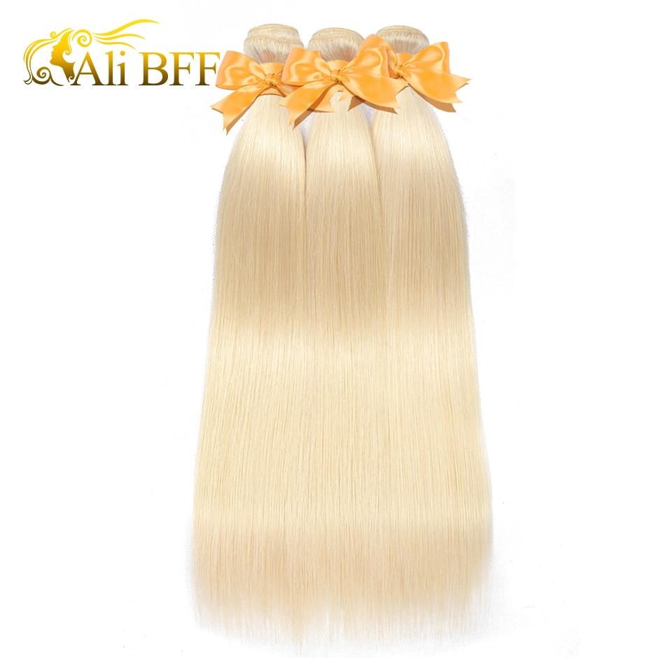ALI BFF cheveux brésiliens Remy cheveux paquets 1 pièces 8-26 pouces 100% Extensions de cheveux humains pur 613 trame de cheveux raides livraison gratuite