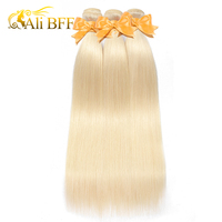 ALI BFF Hair Brazilian Remy Hair Bundles 1Pcs 8 26 inch 100% Human Hair Extensions Pure 613 Straight Hair Wefts Free Shipping