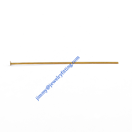 Jewelry Making findings Raw brass metal Head Pins with flat end Scarf Pins jewellry findings 0.7*45mm shipping free