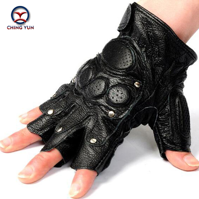 CHING YUN Tactical Gloves Male Semi-finger Protective Ride Non-slip Leather Gloves Fighting Gloves Mitts Free Shipping 8099