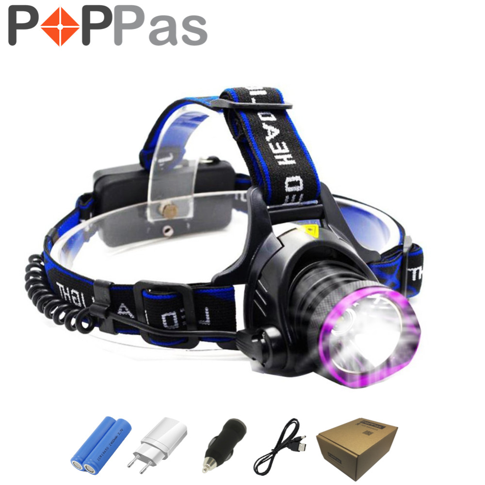 PPOPAS LED XML-T6 Headlight1000 Lumens Lantern Violet Headlamp Frontal Waterproof 18650 Rechargeable Battery sitemap 49 xml