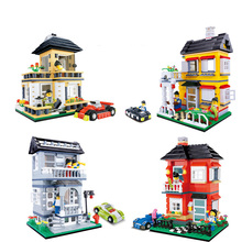 WANGE Apartment Country House Series DIY Model Building Block Set Brick 2017 Educational Toys For Children