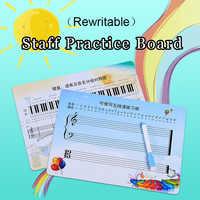 Wiederbeschreibbare Musical Notation Mitarbeiter Blatt Praxis Board Übung Leere Karte Für Anfänger Learner Student Kind Klavier Zubehör