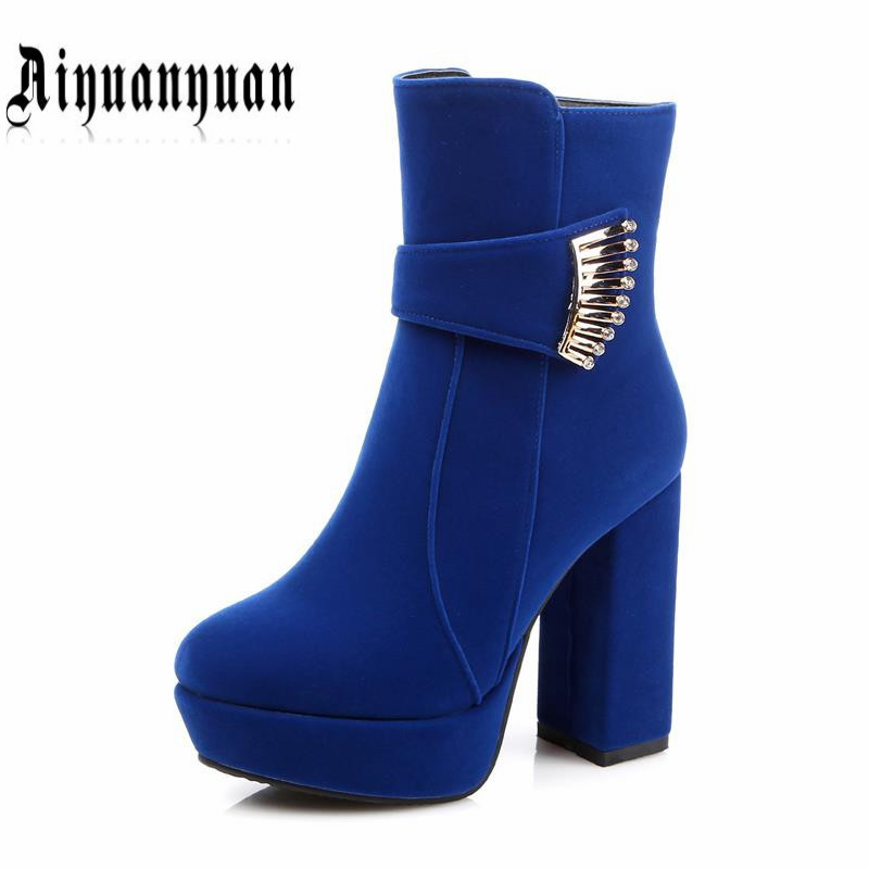 2017 PLUS EUR size to 43 44 45 46 winter shoes round toe women PU leather mid-calf boots most countries FREE SHIPPING free shipping 95 97 id 108672 108962 size eur 40 46
