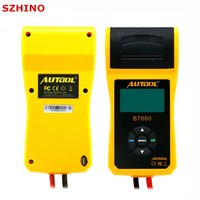 New Arrival AUTOOL 12V Car Battery Load Tester with printer BT660/Multi language Digital automotive battery tester CCA100 3000