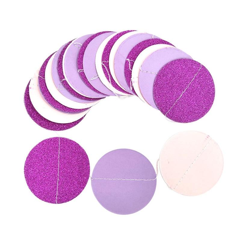 Pink Gold Glitter Circle Polka Dots Garland Banner Bunting Party Decoration New