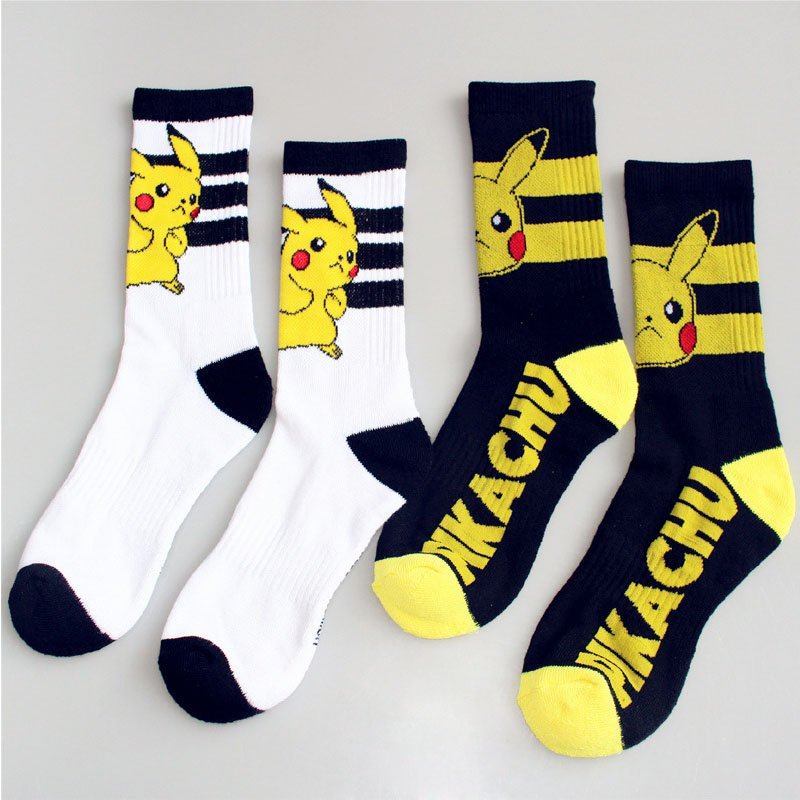 New Arrival Japanese Harajuku Cute Cartoon pokemon   Socks   Women and Men Long   Socks   Kawaii Pikachu Compression   Socks