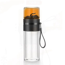 Travel Tea Mug Double Glass Teacup High Quality Water Bottle Outdoor Office Coffee Mugs Infuser