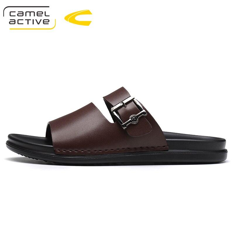 8353620705ea Camel Active Men Sandals Genuine Leather Sandals Men Fashion Comfortable  Leisure Brand Shoes Men Beach Sandals