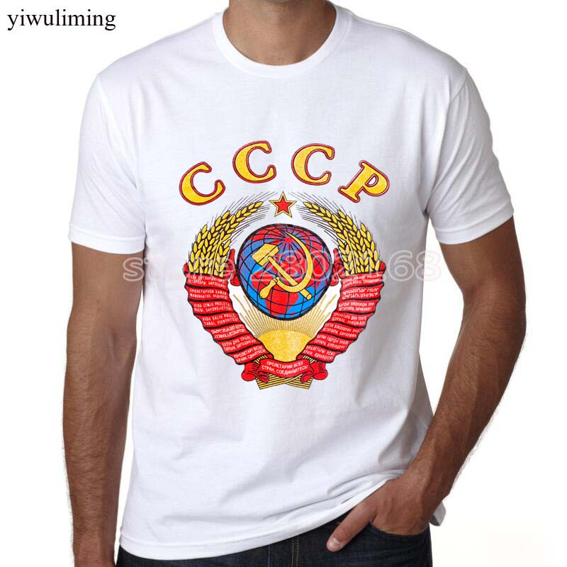 2018 new arrival men/women   t     shirt   CCCP USSR Soviet Russian KGB ARMY   T  -  Shirt   fashion design printed mens tee