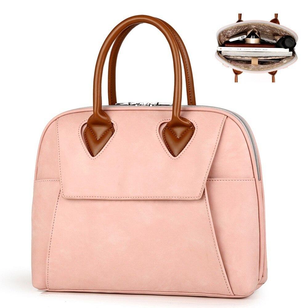 2019 Briefcase Women Handbags 13.3 14 15 15.6 Inch PU Waterproof Design Ladies Laptop Notebook Bags Female Messenger For Woman