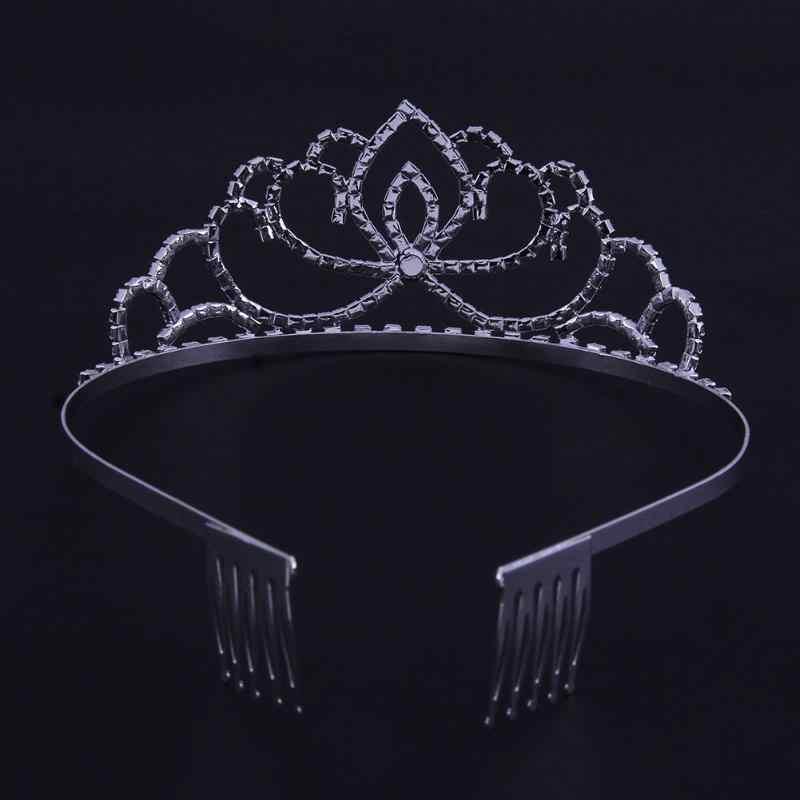 トレンディ 2018 プリンセスクラウン花嫁ページェントクラウンティアラヘアジュエリーウェディング花嫁王装飾品ジュエリー女王王冠