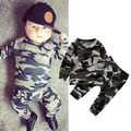 Cute Toddler Autumn Clothes Kids Camouflage T-shirt Tops Baby Boy Pants Hot Baby Girl 2pcs Outfits Set