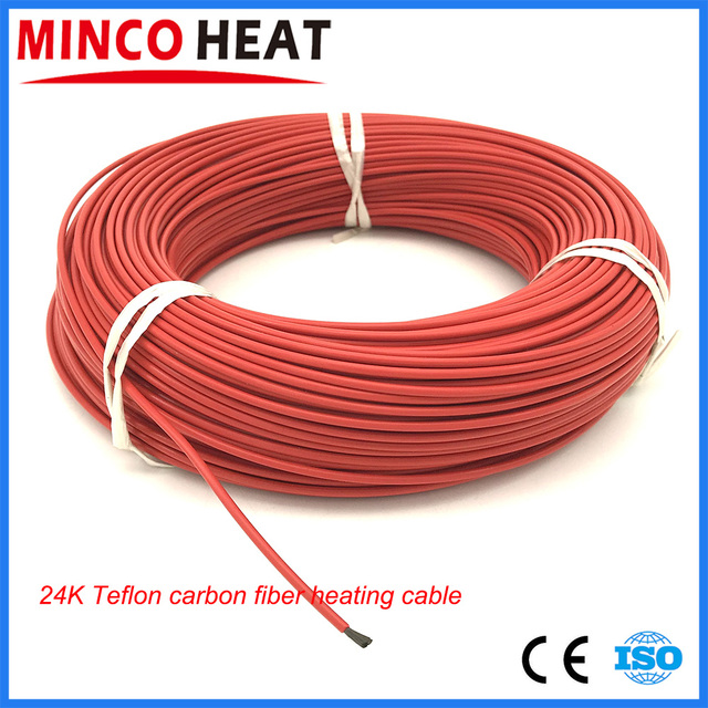 15 meters 24k teflon insulated infrared heating cable carbon fiber rh aliexpress com Crossover Cable Wiring heating cable connection