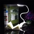 Новая Гибкая Затемнения USB ABS Сенсорный Датчик Белый СВЕТОДИОД Клип на Рядом Книга Чтение Свет Таблица Настольная Лампа Для Кровати/подарок