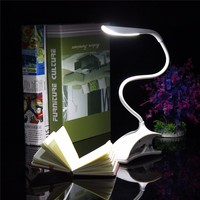New Flexible Dimmable USB ABS Touch Sensor White LED Clip On Beside Book Reading Light Table