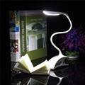 New Flexible Dimmable USB ABS Touch Sensor White LED Clip on Beside Book Reading Light Table Desk Lamp For Bed/Gift