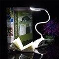 Nueva Regulable Flexible USB ABS Sensor Táctil Blanco Clip LED Libro de Lectura de Luz Lámpara de Escritorio de Mesa Para La Cama Al Lado/regalo