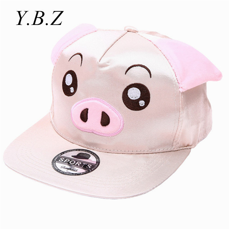 2016 Fashion Hip Hop Snapback Caps for Women Girls Pig Sheep Face Pattern Cartoon Sun Cap Casual Hiphip Hats Beisbol Chapeu RZ82 cntang brand summer lace hat cotton baseball cap for women breathable mesh girls snapback hip hop fashion female caps adjustable