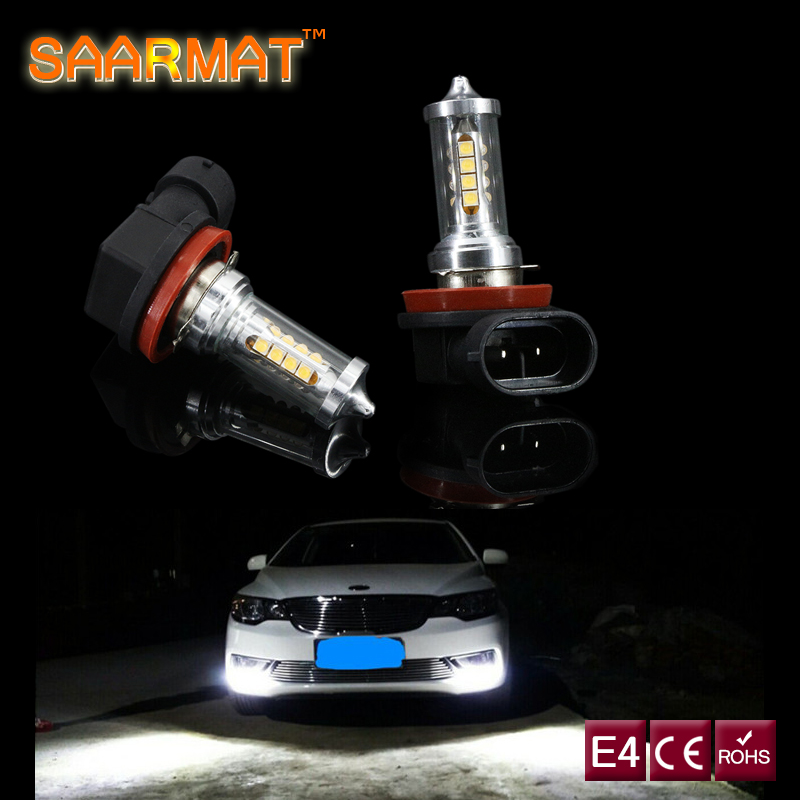 2 x Led H11 H8 H9 DRL Bulb Canbus No error Car Fog Daytime Running Lights For Ford mondeo MK3 MK4 C-MAX S-MAX FOCUS 01+ fusion